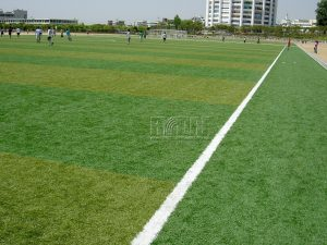 Artificial turf soccer field