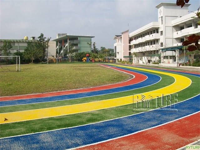 Artificial turf running tracks (rainbow color)