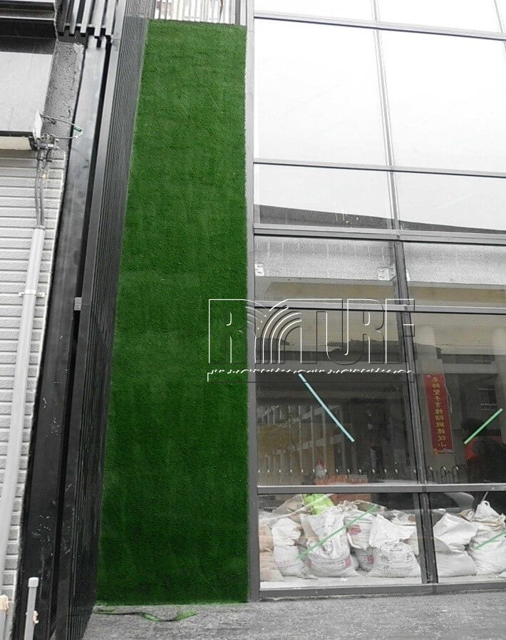 Artificial turf wall landscape