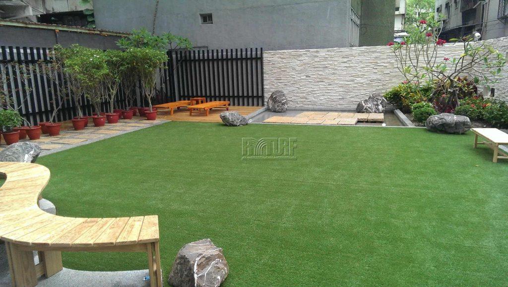 Taipei Chongqing South Road Artificial Turf Garden Landscape